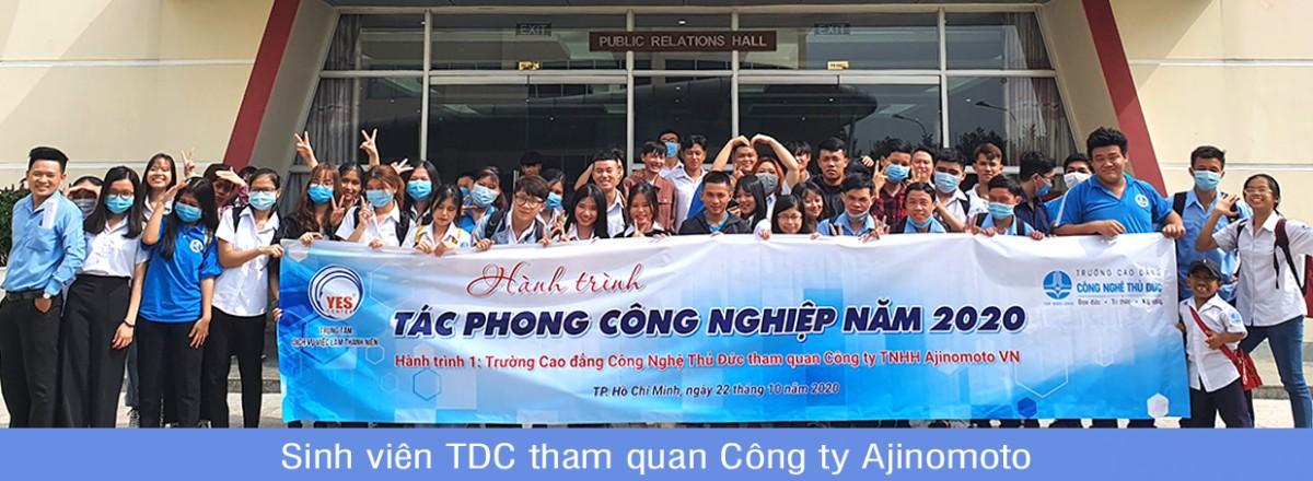 Sinh viên TDC tham quan Công ty Ajinomoto