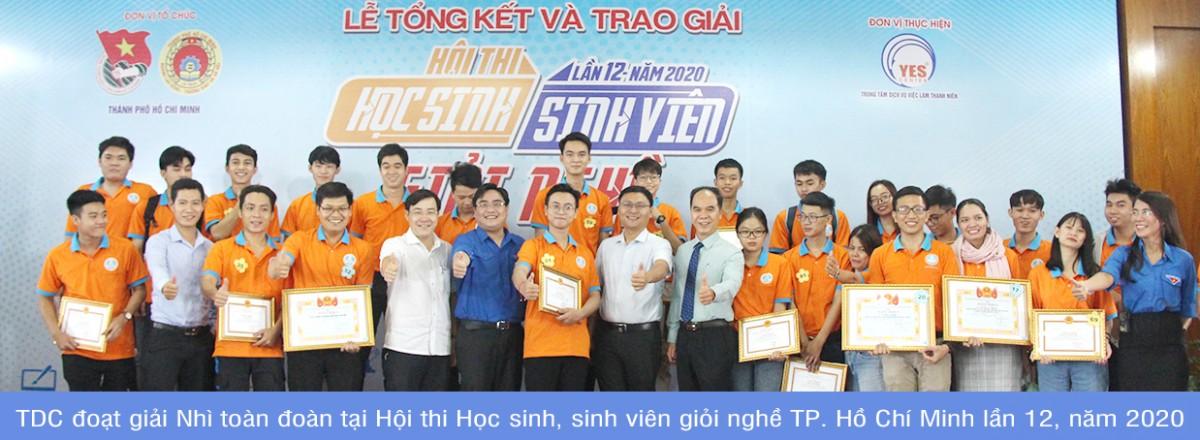 TDC đoạt giải Nhì toàn đoàn tại Hội thi Học sinh, sinh viên giỏi nghề TP. Hồ Chí Minh lần 12, năm 2020